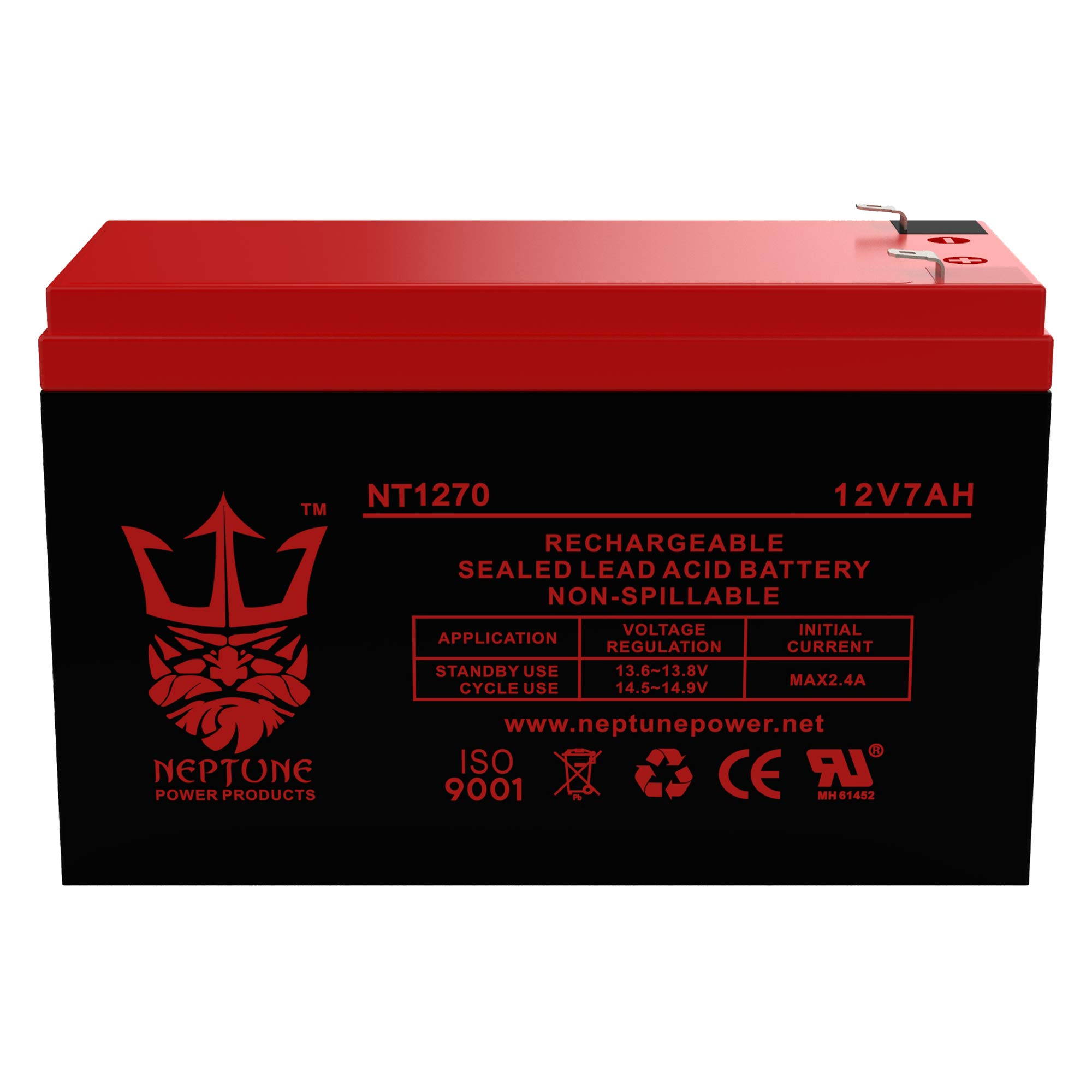 Verizon FiOS PX12072HG 12V 7Ah GS Portalac Battery Replacement GT12080-HG by Neptune
