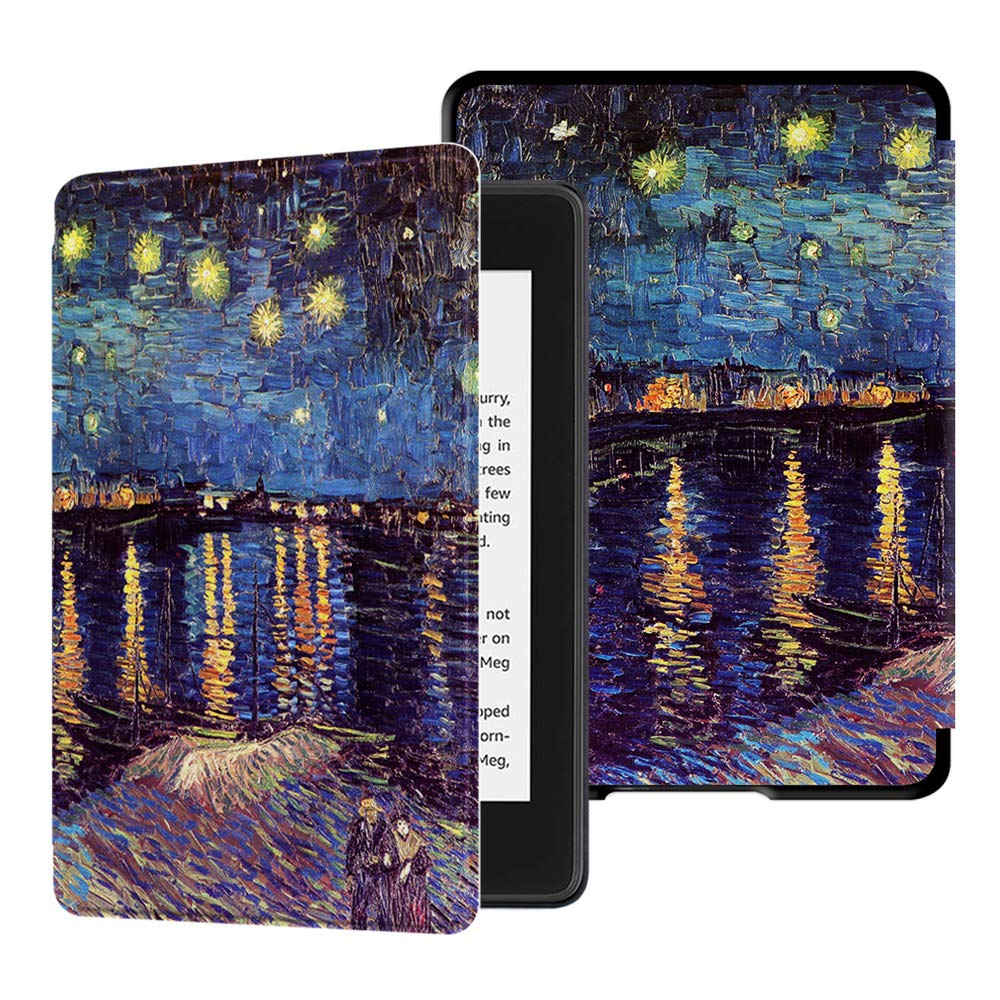 HUASIRU Water-Safe Case for All-New Kindle Paperwhite (10th Gen - 2018 Release only—Will Not fit Prior Gen Kindle Devices), Starry Night