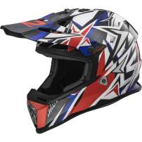 LS2 Helmets MX-Off Road Fast V2 Helmet (Strong Blue/Red - 2X-Large)