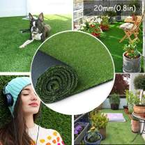 SENFAN Realistic Artificial Grass Mat 4-Tone Thick Outdoor Grass for Pets,6ft x 8ft (48 Square ft) Fake Faux Grass Garden Landscape Dog Synthetic Grass