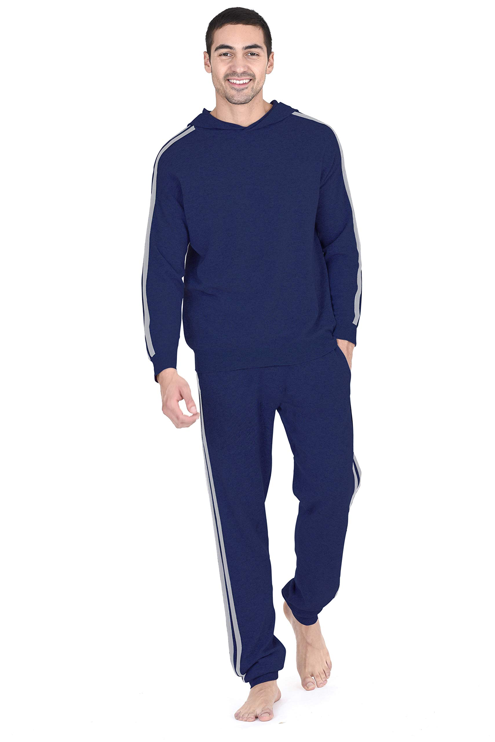 State Fusio Men's Wool Cashmere Loungewear Sweatshirt Hoodie/Pants ◆Priced and Sold Separately, Add Both to Cart for Set◆