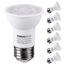 TORCHSTAR PAR16 LED Spot Light Bulb, Dimmable 6.5W (50W Eqv.), 500lm, 40° Beam Angle, UL & Energy Star Listed Spotlight, 3000K Warm White, E26 Medium Base, 5-Year Warranty, Pack of 6