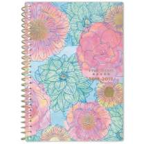 """Five Star 2019-2020 Academic Year Weekly & Monthly Planner, Small, 5-1/2"""" x 8-1/2"""", In Bloom, Blue Floral (1212B-200A)"""
