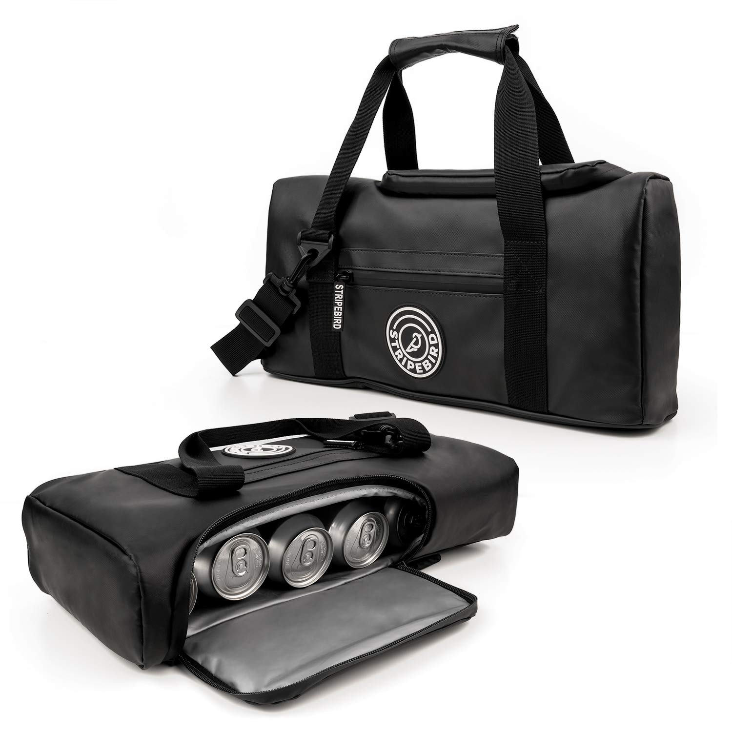 Stripebird - Golf Performance Insulated Cooler Bag for Golfers - Perfectly Fits a 6 Pack of Cans - Beverage and Drink Storage for Golfing - Easily Fits on Golf Cart for Golfers