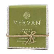Vervan Natural Handmade Soap, Cold Process, Green Tea, 3.4 Oz. Antioxidant, For all Types of Skin, Beeswax and Aloe Vera, Moisturazing Effect,