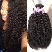 ALI JULIA Hair 10A Wholesale 3-Pack Malaysian Virgin Curly Hair Weave Real Human Hair Weft Extensions Cheap Bundle Hair Products Natural Color 95-100g/pc (14 16 18 inches)