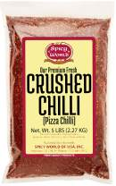 Crushed Red Pepper Flakes 5 Pound Bulk Value Pack - Chili Flakes - by Spicy World