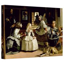 ArtWall 'Las Meninas, Detail of The Lower Half Depicting The Family of Philip IV of Spain' Gallery-Wrapped Canvas Artwork by Diego Velazquez, 16 by 24-Inch