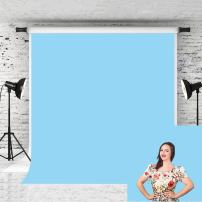 Kate 5x7ft Baby Blue Photo Backdrop Pure Solid Color Background Cotton Backdrops for Photographer Studio Photo