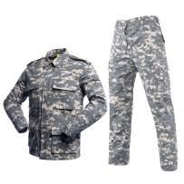 LANBAOSI Men's Tactical BDU Uniform Combat Suit Military Shirt Jacket Coat and Pants Set