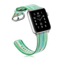 Fintie Band Compatible with Watch 40mm 38mm - Genuine Leather Replacement Wrist Strap Compatible with Watch Series 5 4 (40mm) / 3 2 1 (38mm) All Models - Spring Green