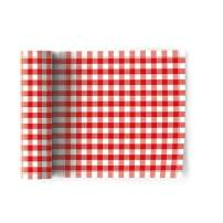 MY DRAP Formal Designer Collection Luncheon Napkins (12 Napkins, Picnic Gingham Red)