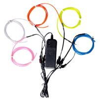 Lychee 51 Metre Neon Light El Wire w/Battery Pack for Parties, Halloween Decoration (Colors)