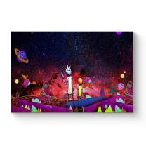 """HAOSHUNDA HSD Wall Art Rick and Morty Posters On Canvas Oil Painting Posters and Prints Decorations Wall Art Picture Living Room Wall Ready to Hang 12"""" x 18"""" 16"""" x 24"""" (16""""x24""""x1, Artwork-22)"""