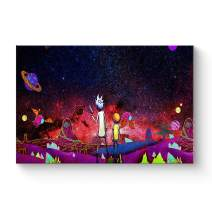 """HAOSHUNDA HSD Wall Art Rick and Morty Posters On Canvas Oil Painting Posters and Prints Decorations Wall Art Picture Living Room Wall Ready to Hang 12"""" x 18"""" 16"""" x 24"""" (12""""x18""""x1, Artwork-22)"""