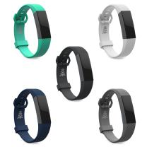 Teak Fitbit Alta Bands, Silicone and Milanese Loop Stainless Steel Replacement Accessories for The Fitbit Alta, Large, Small, Universal Sizes. Large Selection of Colors