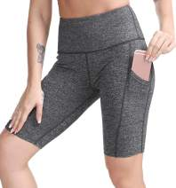 TYUIO High Waist Workout Yoga Shorts for Women Running Biker Shorts with Pockets