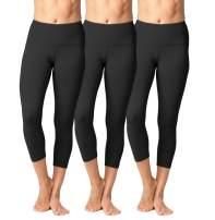 Yogalicious High Waist Ultra Soft Lightweight Capris - High Rise Yoga Pants
