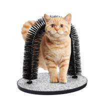PetBonus Cat Self Grooming and Massaging Toy, Arch Brush with Cat Scratching Pads, Cat Scratcher and Groomer