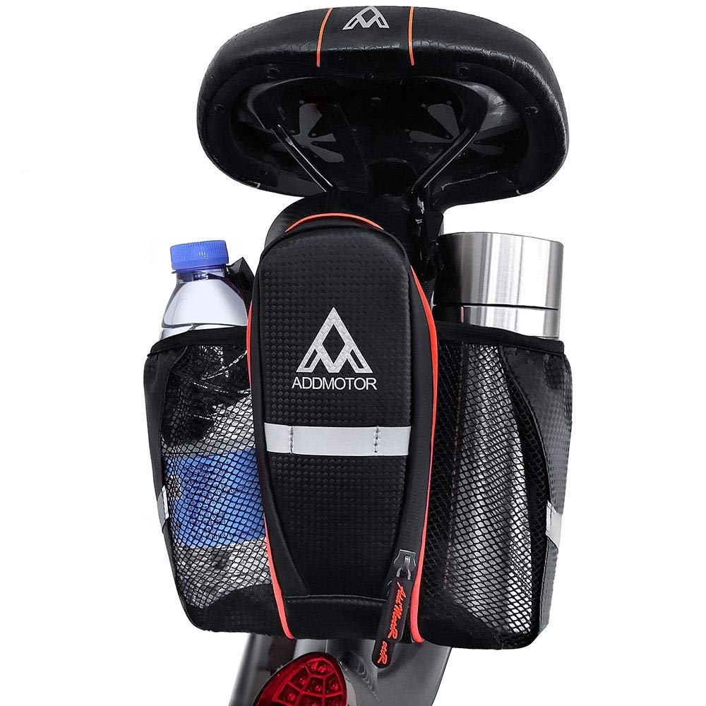 Addmotor Bike Storage Bag Saddle Bag Waterproof Bicycle Package Bike Back Seat Pouch with Water Bottle Holder for Mountain Bike Road Bike Touring, Commuting