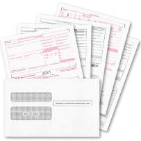 W2 Forms 2019, 4 Part Tax Forms, (Set of 50 with Self Seal Envelopes) Laser Ink/Jet Forms for QuickBooks and Accounting Software