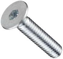"Steel Socket Cap Screw, Zinc Plated Finish, Flat Head, Internal Hex Drive, Meets ASTM B695, 3/4"" Length, Fully Threaded, #6-32 Threads (Pack of 100)"