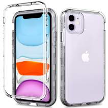 ACKETBOX iPhone 11 Case/iPhone 11 Protective Case with Screen Protector Hybrid Impact Defender Clear PC Back Case and Bumper+Transparent TPU Full Body Cover for iPhone 11 6.1 Inch(Clear)