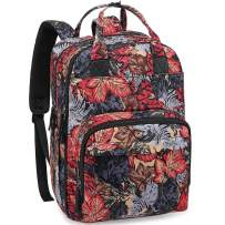 Diaper Bag Backpack Floral, RUVALINO Fashion Maternity Baby Bags Waterproof Large Nappy Changing Back Pack with Changing Pad for Mom, Girls, Women (Flower Pattern)