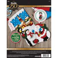 Bucilla 18-Inch Christmas Stocking Felt Appliqué Kit, 86818 Christmas Village