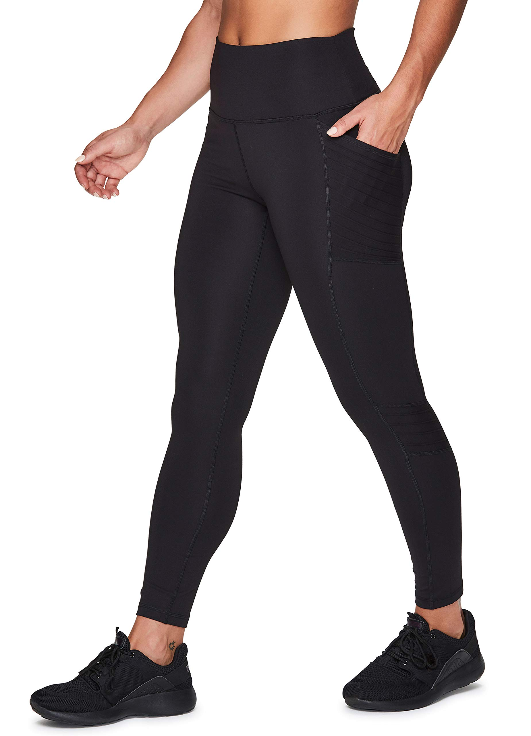 RBX Active Women's Fashion Super Soft Peached Full Length Solid Workout Running Yoga Leggings with Pockets
