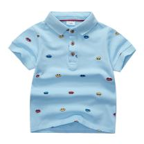 Sooxiwood Little Boys Polo Shirts Printed Car