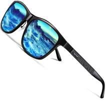 ROCKNIGHT HD Polarized Al-Mg Metal Driving UV400 Protection Sunglasses for Men Women Outdoor Sunglasses for Medium&Big Head