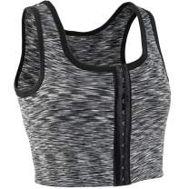 XUJI 3 Rows Central Clasp Chest Binder Tank Top