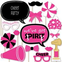 Big Dot of Happiness We've Got Spirit - Cheerleading - Birthday Party or Cheerleader Party Photo Booth Props Kit - 20 Count