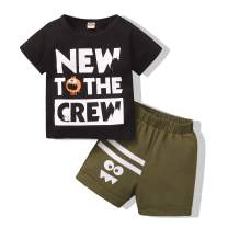 Baby Boy Clothes Toddler Boy Clothing Short Sleeve T-Shirt + Short Pants 2PC Birthday Gift Outfit Set