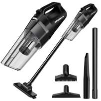 SOWTECH Vacuum Cleaner Rechargeable Cordless Vacuum Cyclonic Suction Lightweight Handheld Vacuum Cleaner with Stainless Steel Filter and 6 of Accessories