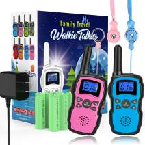 Wishouse Rechargeable Walkie Talkies for Kids with Charger Battery,Family Two Way Radio Long Range,Outdoor Game Camping Spy Amy Police Toy,Birthday Party Gift for 4 5 6 7 8 9 10 Year Old Girls Boys