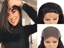 KAFEIER HAIR 5X5 Closure Straight Human Hair Wigs For Black Women 150 Density Glueless Cheap Free Deep Part Invisible Natural Look Peruvian Remy Hair 10 inch