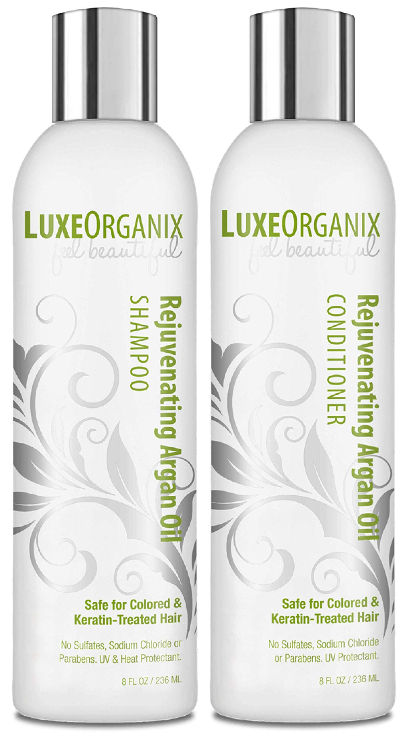 Moroccan Oil Shampoo and Conditioner: Sulfate Free for Color Treated and Keratin Hair Treatments - Sodium Chloride Free, Best for Curly, Frizzy or Dry Hair. No Parabens or Salt. (8 oz Set) Made In USA