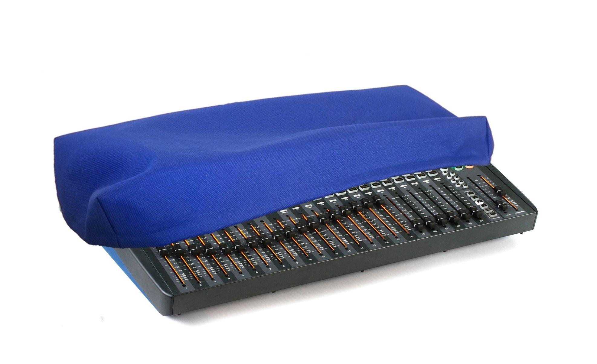 SOUNDCRAFT Si IMPACT/IMPACT 2 Audio Mixer Recording Studio Console Protective Dust Cover [Blue Nylon; Water Resistant; Antistatic; Premium Fabric] by DigitalDeckCovers