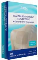 "Showerproof Transparent Adhesive Film Dressing 4"" x 4"" 3/4"" 50 Per Box"