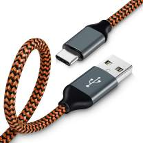 Type C Charger Cable 10ft,USB C Cable 1Pack Premium USB C to USB A Charger Cord(USB2.0) for Samsung Note 8,Galaxy S9, S8, Nexus 6P 5X,Google Pixel,LG G5 G6(Orange)