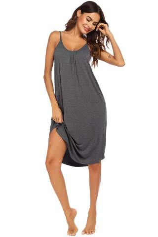 Ekouaer Womens Sleeveless Long Nightgown Summer Slip Night Gowns Dress Soft Sleepshirt Chemise Pajamas