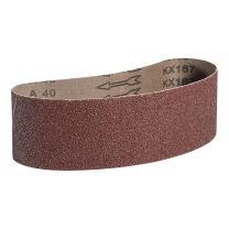 "Mercer Industries 107100 Aluminum Oxide Premium Sanding Belts, 100 Grit (10 Pack), 3"" x 24"""