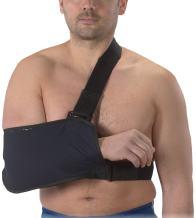 Bilt-Rite Mastex Health Arm Sling with Immobilizing Strap, Navy Blue, Medium