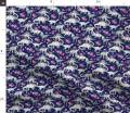 Spoonflower Fabric - Dinosaurs, Roses, Dark Blue, Purple, Watercolor, Dino, Stegosaurus, Printed on Basketweave Cotton Canvas Fabric by The Yard - Upholstery Home Decor Bottomweight