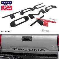 BDTrims Tailgate Raised Letters Compatible with 2016-2020 Tacoma Models (Matte Black)