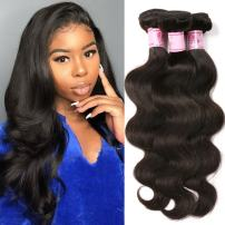 Beauty Forever Malaysian Body Wave Hair Extensions 3 Bundles 100% Unprocessed Human Virgin Hair Weaves (100+/-5g)/pc Natural Color (8 10 12)