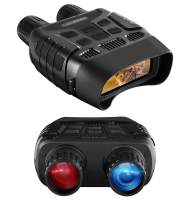 JZBRAIN Night Vision Binoculars, Infrared Binoculars Night Vision Goggles for Total Darkness, 4X Digital Zoom IR LED 3W 850nm with 32 GB Memory Card for Hunting Surveillance Spotting and Spy (Black)