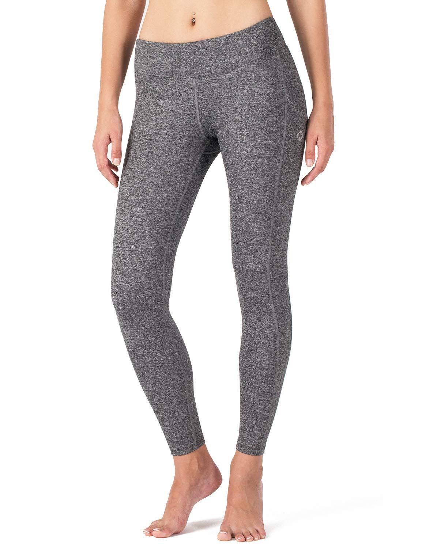 Naviskin Women's Yoga Running Capri Leggings Workout Outdoor Capri Pants Side Pockets